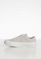 Converse - Chuck taylor all star one star sneaker - white & grey