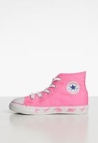 Converse - Chuck Taylor All Star hi top sneaker - pink & white