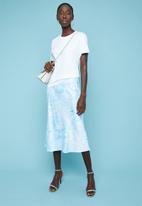 Superbalist - Tie dye midi skirt - blue