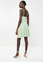New Look - Waffle skater dress - green