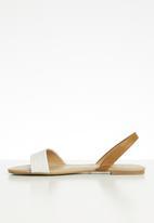 Call It Spring - Woven slingback sandal - white