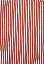Superbalist - Crop bikini top (plus) - rust and white stripe
