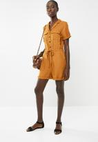 New Look - Drawstring playsuit - rust