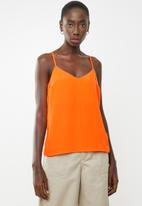New Look - Cleo cross back neon cami - orange