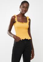 New Look - Shirred trim sleeveless vest - yellow