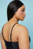 Superbalist - Deep v-neck one piece - black