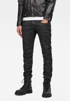 G-Star RAW - Revend Skinny Black pintt stretch denim - 3D dark aged