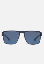 Emporio Armani - Square sunglasses - matte blue