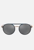 Emporio Armani - Round sunglasses 53mm - black & copper