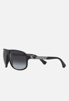 Emporio Armani - Wrap-around rectangle sunglasses - black