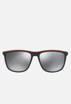 Emporio Armani - Retro sunglasses 57mm - black & red