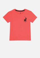 POLO - Boys rick short sleeve tee - coral