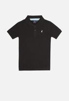 POLO - Boys austin short sleeve golfer - black