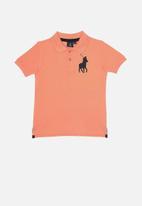 POLO - Boys austin short sleeve golfer - peach