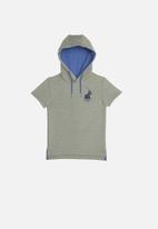 POLO - Boys jason short sleeve hooded pullover - grey