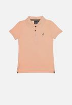 POLO - Girls nina short sleeve golfer - peach