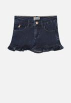 POLO - Ava frilled short - blue