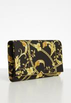 Call It Spring - Dynamite clutch bag -  black & yellow