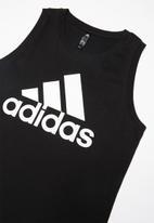 adidas Performance - Boys tank - black