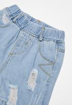 POP CANDY - Infant girls denim shorts - blue