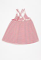 POP CANDY - Striped dress - red