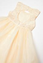 POP CANDY - Princess mesh dress - peach