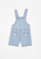 POP CANDY - Infants denim dungaree - blue