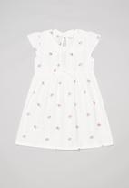 POP CANDY - Printed dress with peter pan collar - white & pink