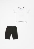 POP CANDY - Boys 2 piece set - white & black