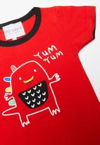 POP CANDY - Infants T-shirt set - red