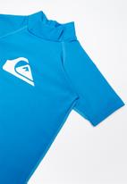 Quiksilver - Standard short sleeve rashvest - blue