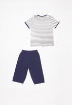 POP CANDY - Stripe Pj set - navy & white