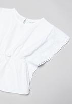 POP CANDY - Tassel detail blouse - white