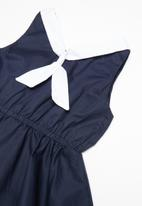 POP CANDY - Nautical dress - navy & white