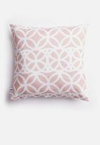 Sixth Floor - Trellis cushion cover - dusty pink