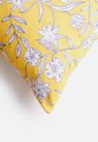 Sixth Floor - Punchy floral cushion cover - yellow