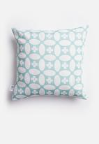 Sixth Floor - Blot cushion cover - teal