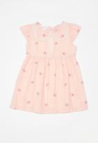 POP CANDY - Printed dress with peter pan collar - pink