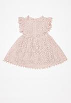 POP CANDY - Printed ruffle dress - pink