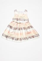 POP CANDY - Stripe Satin dress - multi