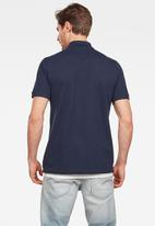 G-Star RAW - Dunda polo short sleeve - navy
