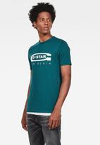 G-Star RAW - Graphic 4  slim fit tee - green