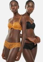 Sissy Boy - 2 Pack push up multiway bra with detachable straps - yellow & black