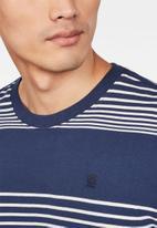 G-Star RAW - Loam short sleeve tee - navy & white