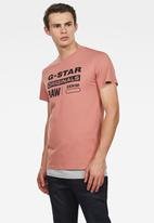 G-Star RAW - Graphic short sleeve - pink