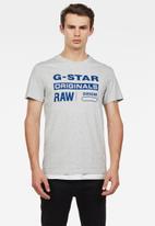 G-Star RAW - Graphic short sleeve tee - grey