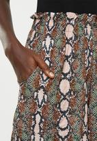 Superbalist - Snake skin soft paperbag shorts - multi