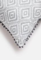 Sixth Floor - Aztec geo cushion cover - grey