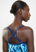 Jacqueline - Underwire tankini top - blue