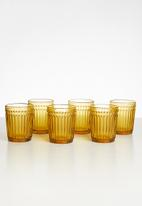 Sixth Floor - Amber water glass set of 6 - brown